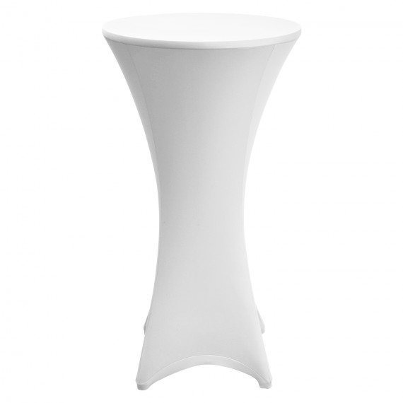 Beautissu Stehtischhusse Stretch Husse Stella Ø80-85cm weiß Weiß | Ø80 - 85