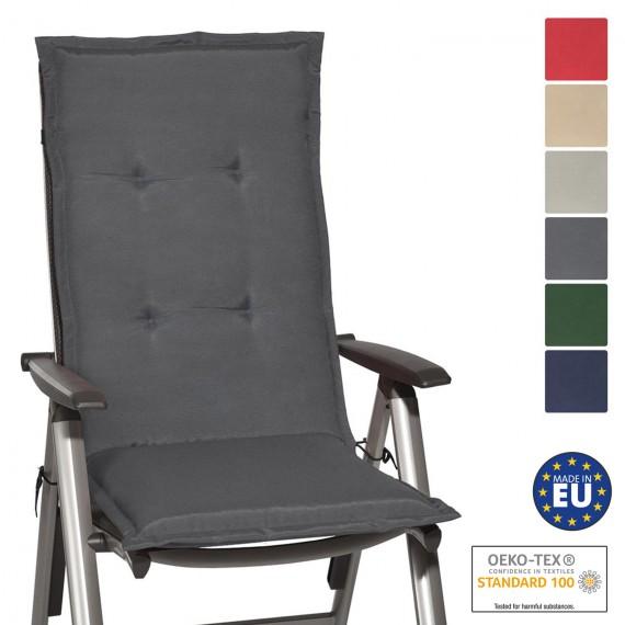 Beautissu Loft HL Hochlehner Auflagen 120x50x6 cm diverse Farben