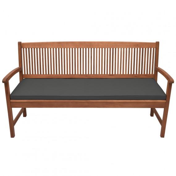 Beautissu Base BK Bankauflage Sitzpolster 150x48x5cm graphitgrau graphit-grau | 150x48x5cm