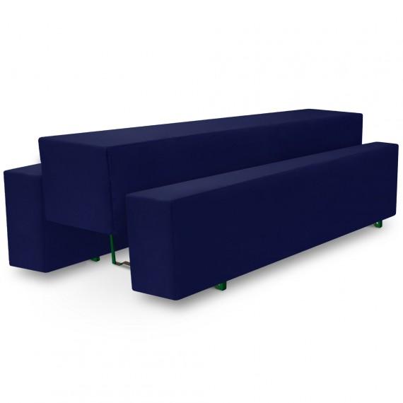 Beautissu Biertischhusse 3tlg. Set Basic M - 70x220cm - blau Blau | 70 x 220
