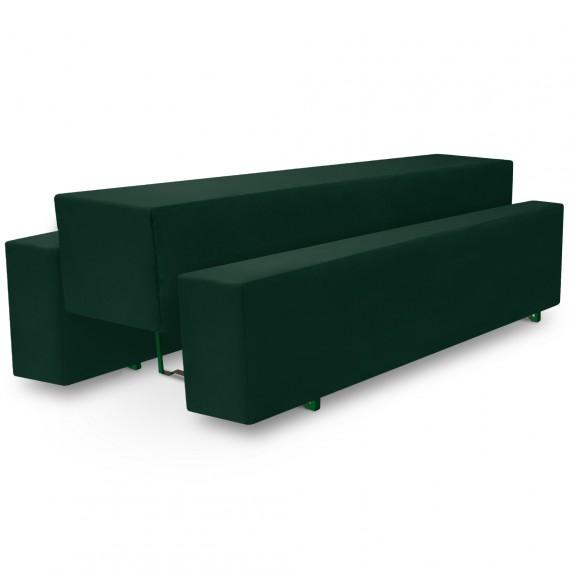 Beautissu Biertischhusse 3tlg. Set Basic M - 50x220cm - dunkelgrün Dunkel-Grün | 50 x 220