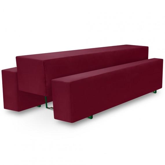 Beautissu Biertischhusse 3tlg. Set Basic M - 50x220cm - rot dunkel Dunkel-Rot | 50 x 220