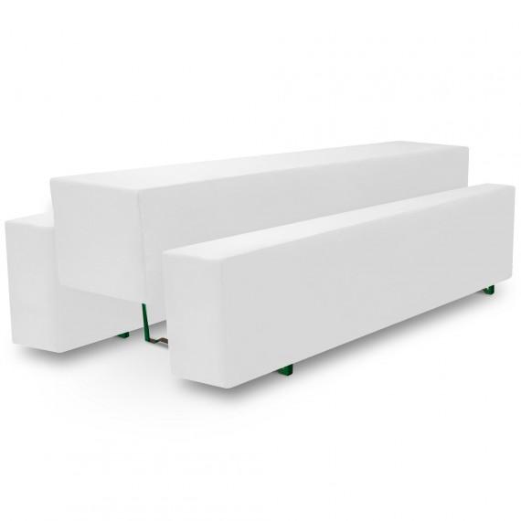 Beautissu Biertischhusse 3tlg. Set Basic M - 50x220cm - weiß Weiß | 50 x 220
