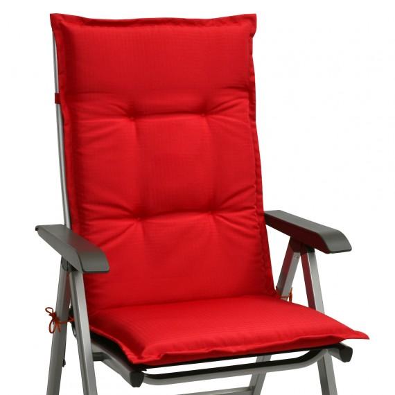 Beautissu Base HL Hochlehner Auflage 120x50x6 cm Rot Rot
