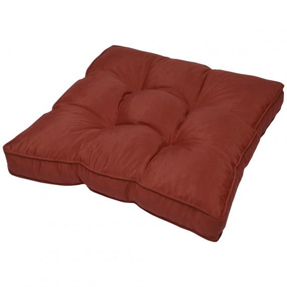 Outdoor Sitzkissen Loungekissen - 50x50x10cm - rot Rot | Sitzkissen 50x50cm