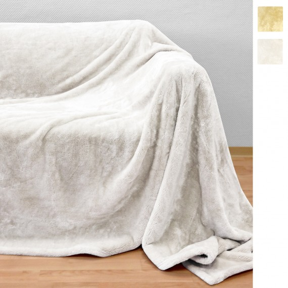 Beautissu XL Kuscheldecke Cashmere-Feeling Sophia 150x200cm