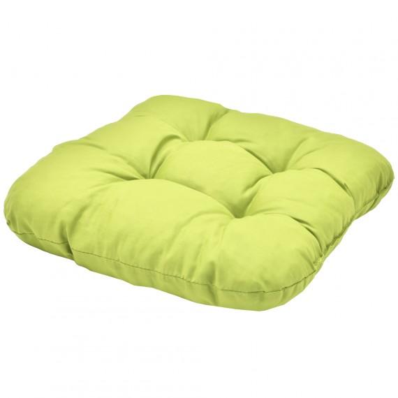 Beautissu Kissen Sitzkissen Stuhlkissen Lisa 40x40x8cm hellgrün Hellgrün