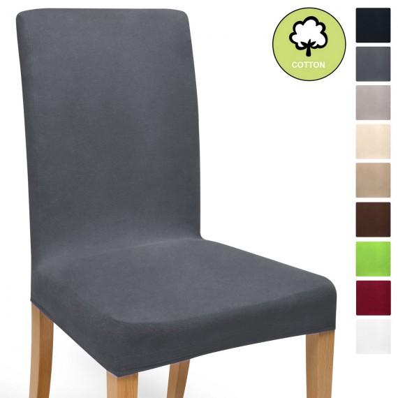 Beautissu Mia Stretch universal Stuhlhusse aus Baumwolle div. Farben