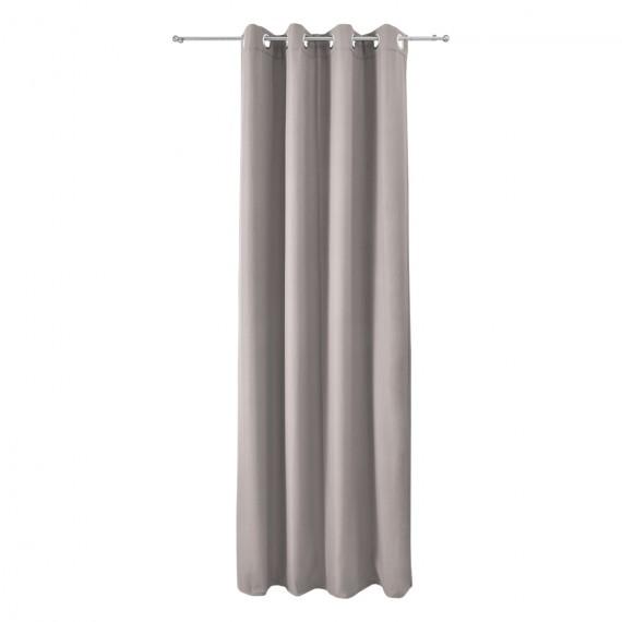 Beautissu Thermo-Ösenschal Amelie 140 x 245cm - grau Grau