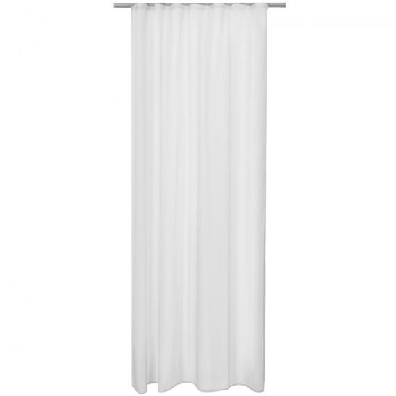 Beautissu Universalband transparent Amelie 140 x 245 cm - weiß Weiß