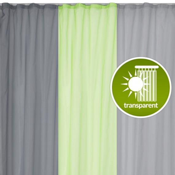 Beautissu Universalband Vorhang transparent Amelie 140x245 cm