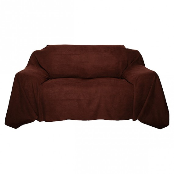 tagesdecke bett berwurf sofa berwurf 140x210cm braun. Black Bedroom Furniture Sets. Home Design Ideas