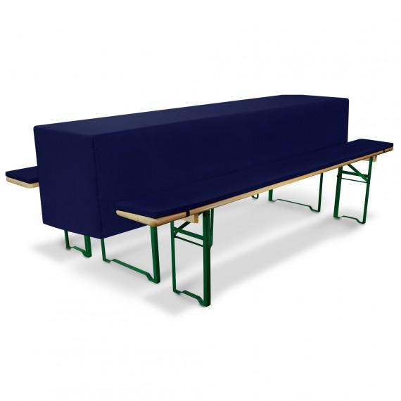 Bierbankauflage Comfort S gepolstert mit Husse Set 70x220cm dkl.blau Dunkel-Blau | 70 x 220