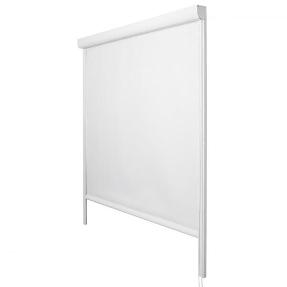 Thermo Kassettenrollo 100 x 175 cm ohne Bohren in weiß Weiß | 100 x 175
