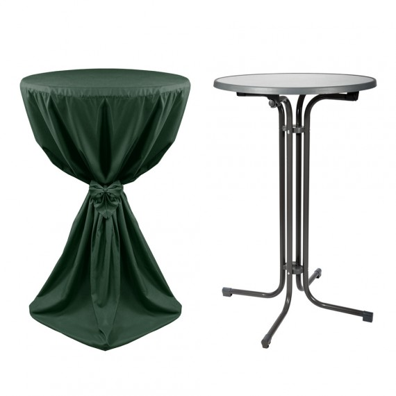 stehtisch inkl husse giulia 70cm gr n mit band hier im shop. Black Bedroom Furniture Sets. Home Design Ideas