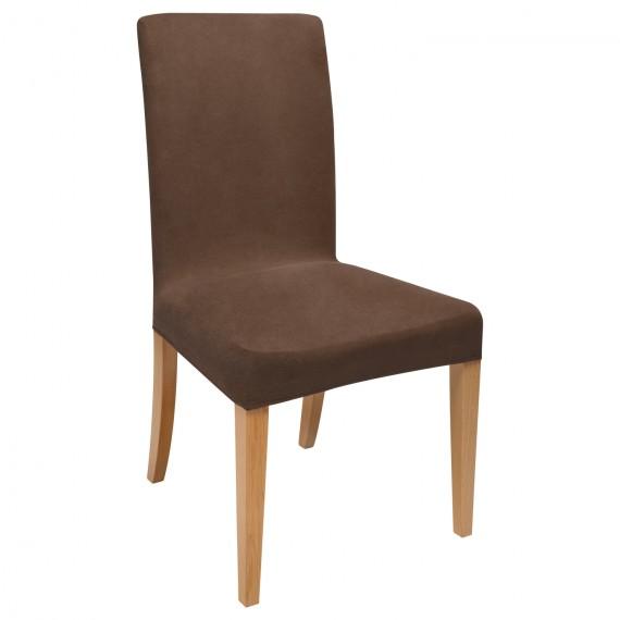 stuhlhusse stretch mia kurz braun online kaufen. Black Bedroom Furniture Sets. Home Design Ideas