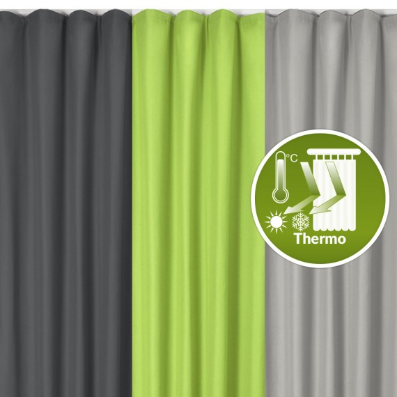 Beautissu Thermo-Universalband Vorhang Amelie 140 x 245cm