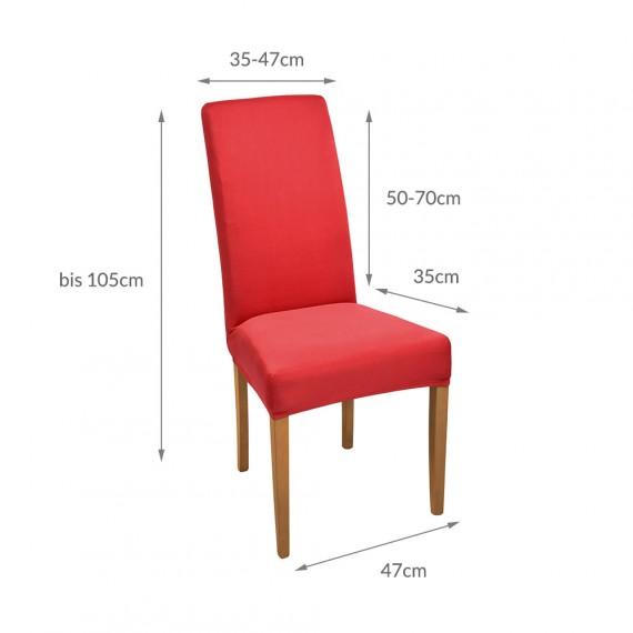 stuhlhusse stretch mia kurz rot online kaufen. Black Bedroom Furniture Sets. Home Design Ideas