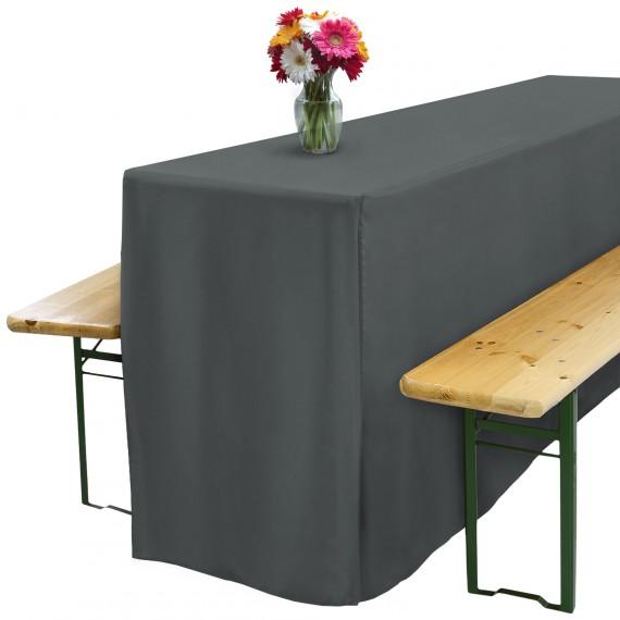 biertischhusse f r festzeltgarnitur 70x220cm lang mit schlitz anthrazit. Black Bedroom Furniture Sets. Home Design Ideas
