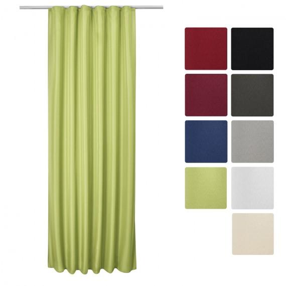 universalband vorhang amelie 140x175cm gr n. Black Bedroom Furniture Sets. Home Design Ideas