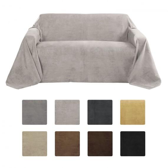 tagesdecke wildlederoptik sofa berwurf romantica. Black Bedroom Furniture Sets. Home Design Ideas