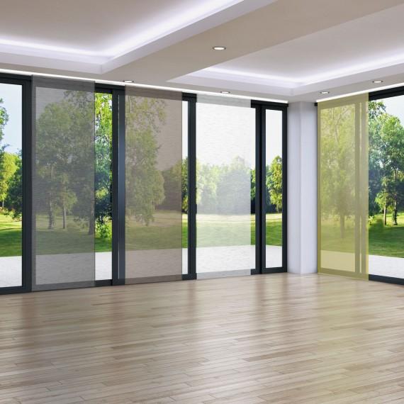 schiebevorhang 60x245 cm rodeo gr n. Black Bedroom Furniture Sets. Home Design Ideas