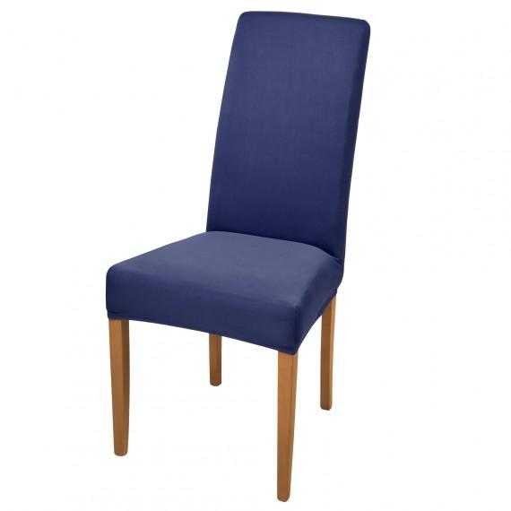 stuhlhusse stretch mia kurz blau online kaufen. Black Bedroom Furniture Sets. Home Design Ideas