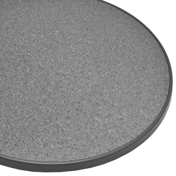 stehtisch bistrotisch klappbar grau 60cm h 110cm. Black Bedroom Furniture Sets. Home Design Ideas