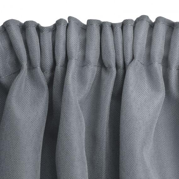 universalband vorhang amelie 140x245cm grau. Black Bedroom Furniture Sets. Home Design Ideas