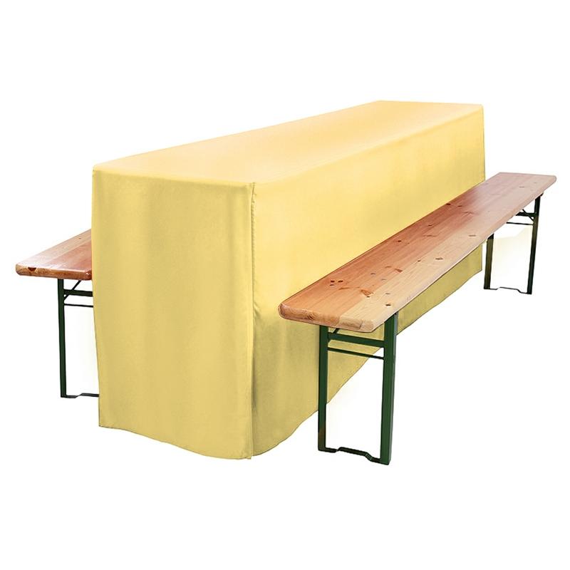 biertischhusse vanille 220x50x75cm online kaufen. Black Bedroom Furniture Sets. Home Design Ideas