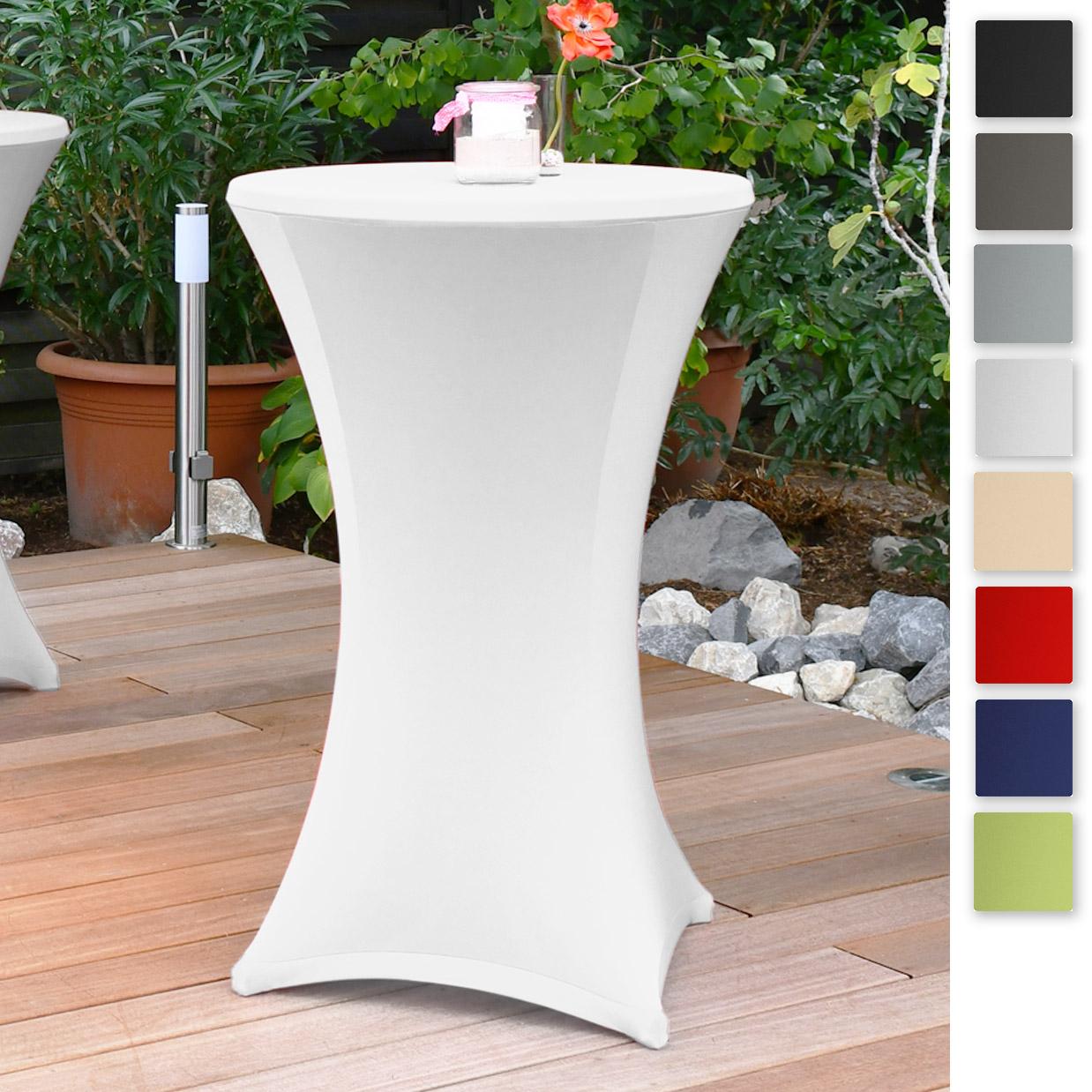 Beautissu Stella Stretch Stehtischhusse diverse Größen und Farben