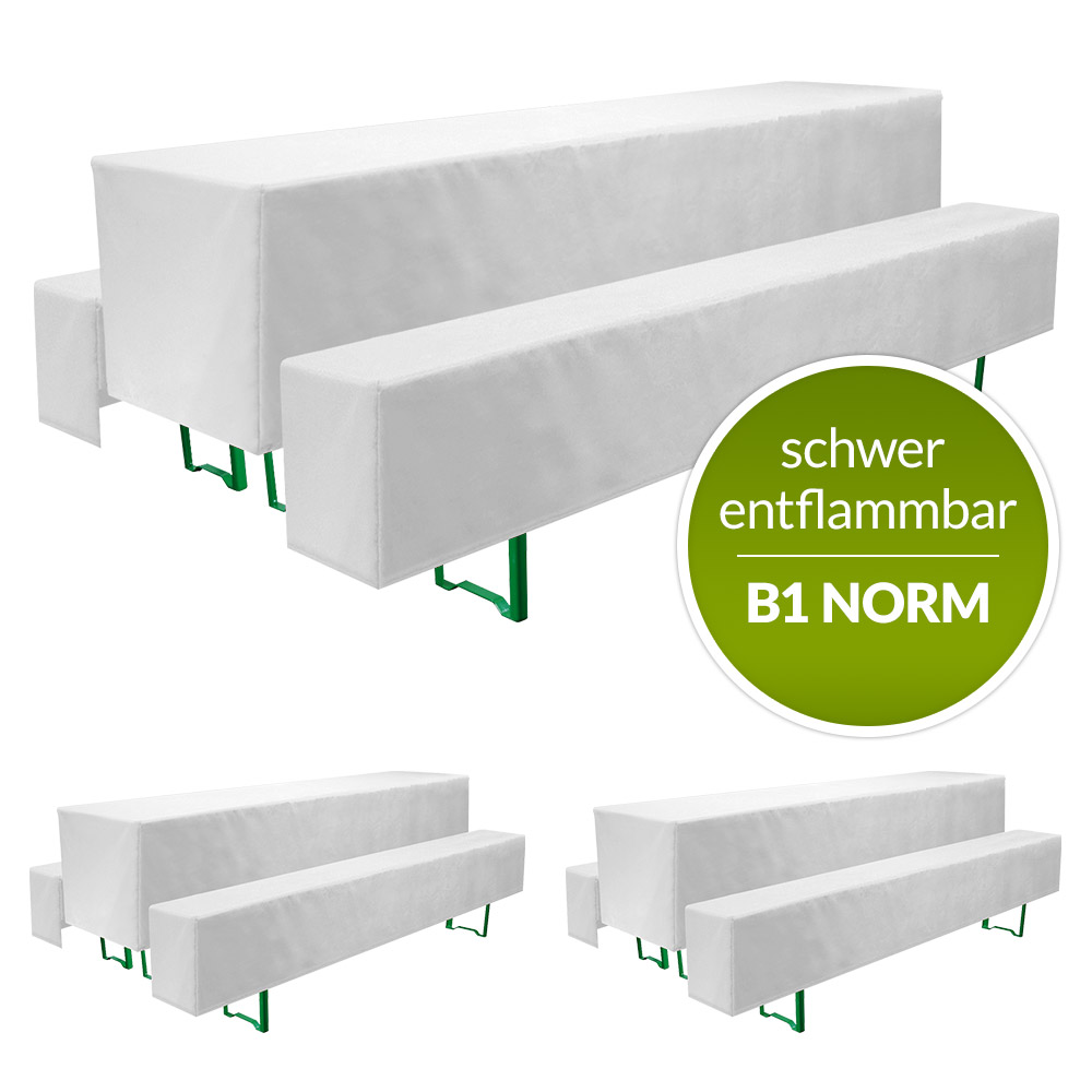 b1 biertischhusse basicb1 3tlg set schwer entflammbar. Black Bedroom Furniture Sets. Home Design Ideas