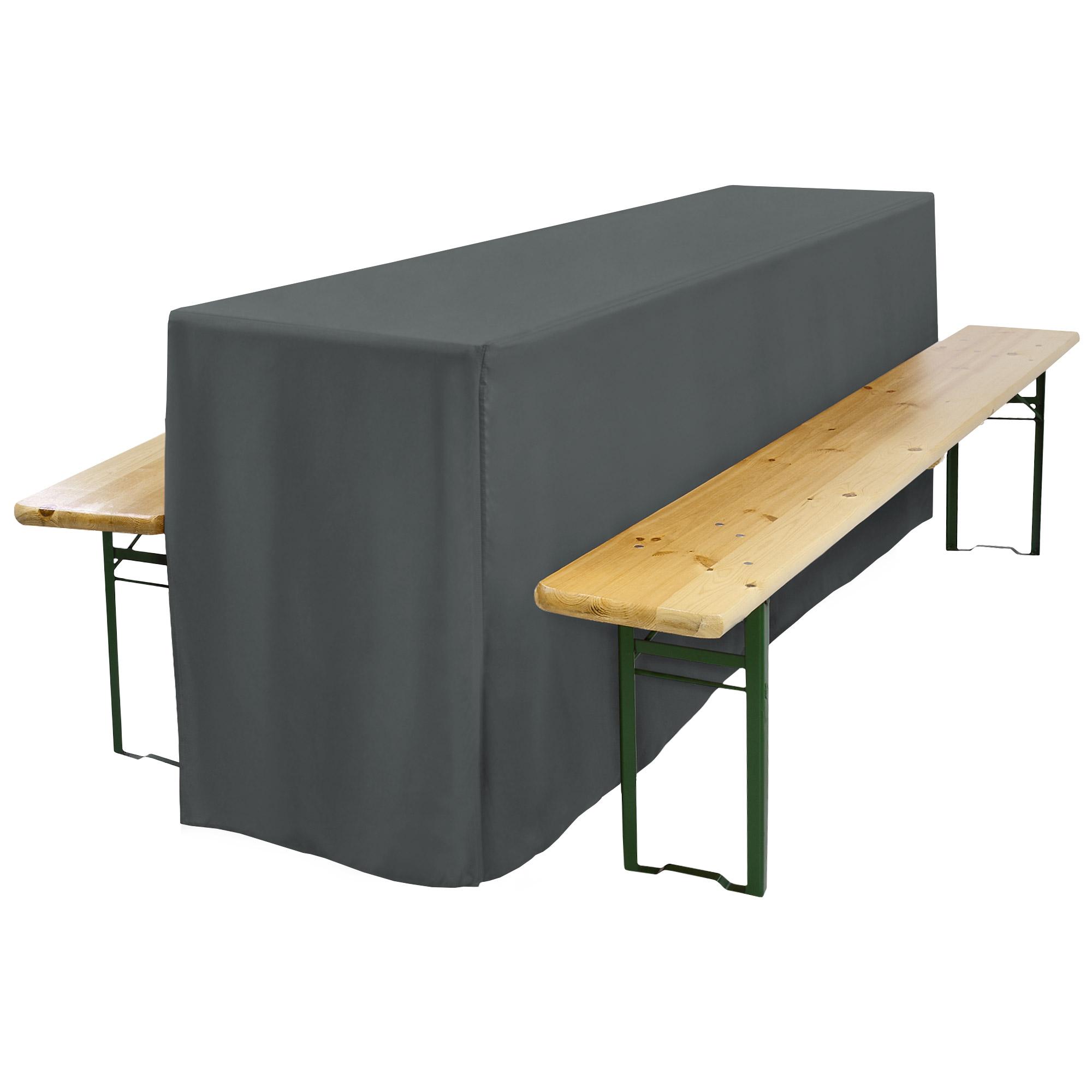 biertischhusse f r festzeltgarnitur 50x220cm lang mit schlitz anthrazit. Black Bedroom Furniture Sets. Home Design Ideas