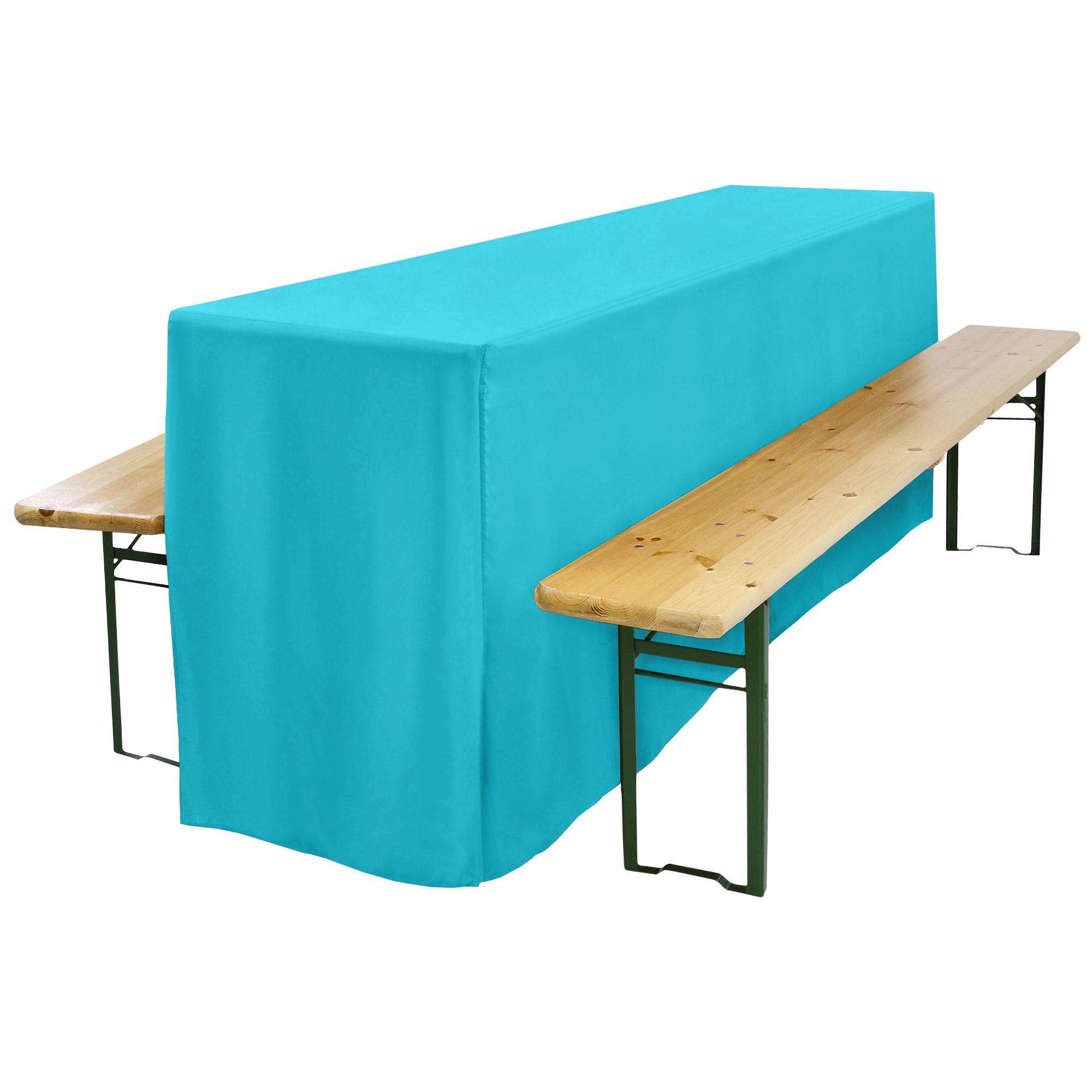biertischhusse biertisch 220x70x75 t rkis hier kaufen. Black Bedroom Furniture Sets. Home Design Ideas