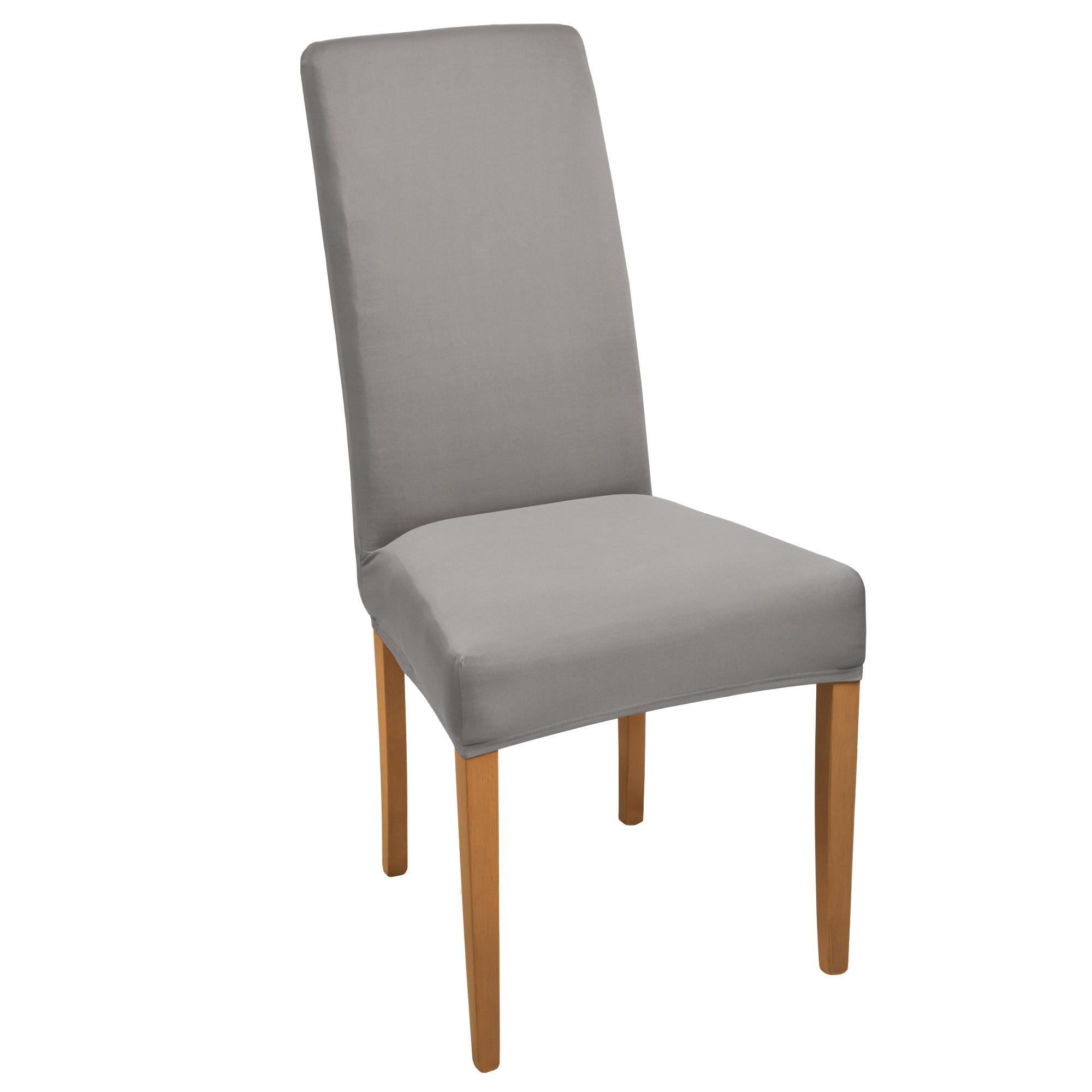 stuhlhusse stretch kurz mia anthrazit online kaufen. Black Bedroom Furniture Sets. Home Design Ideas