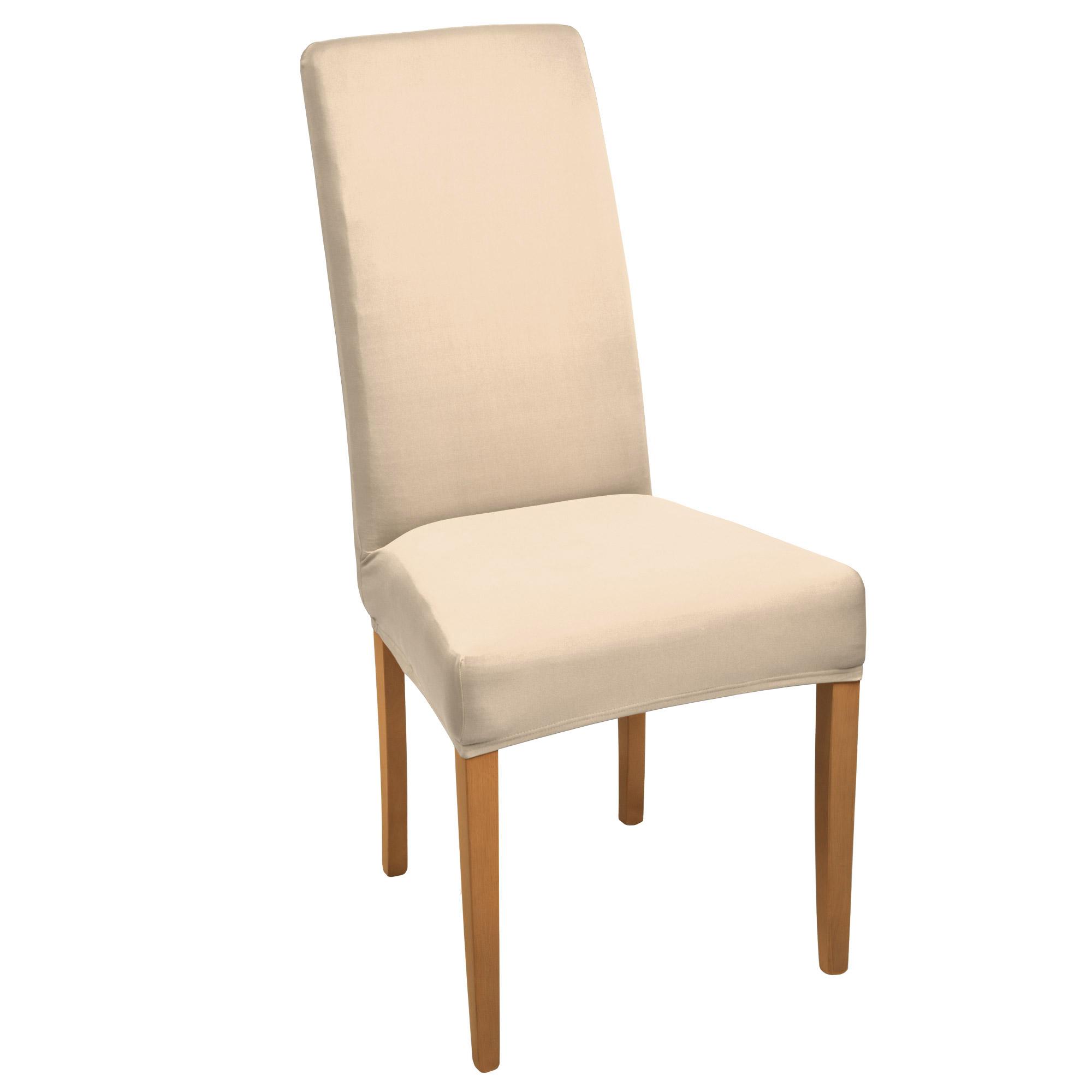 stuhlhusse stretch mia kurz ecru online kaufen. Black Bedroom Furniture Sets. Home Design Ideas