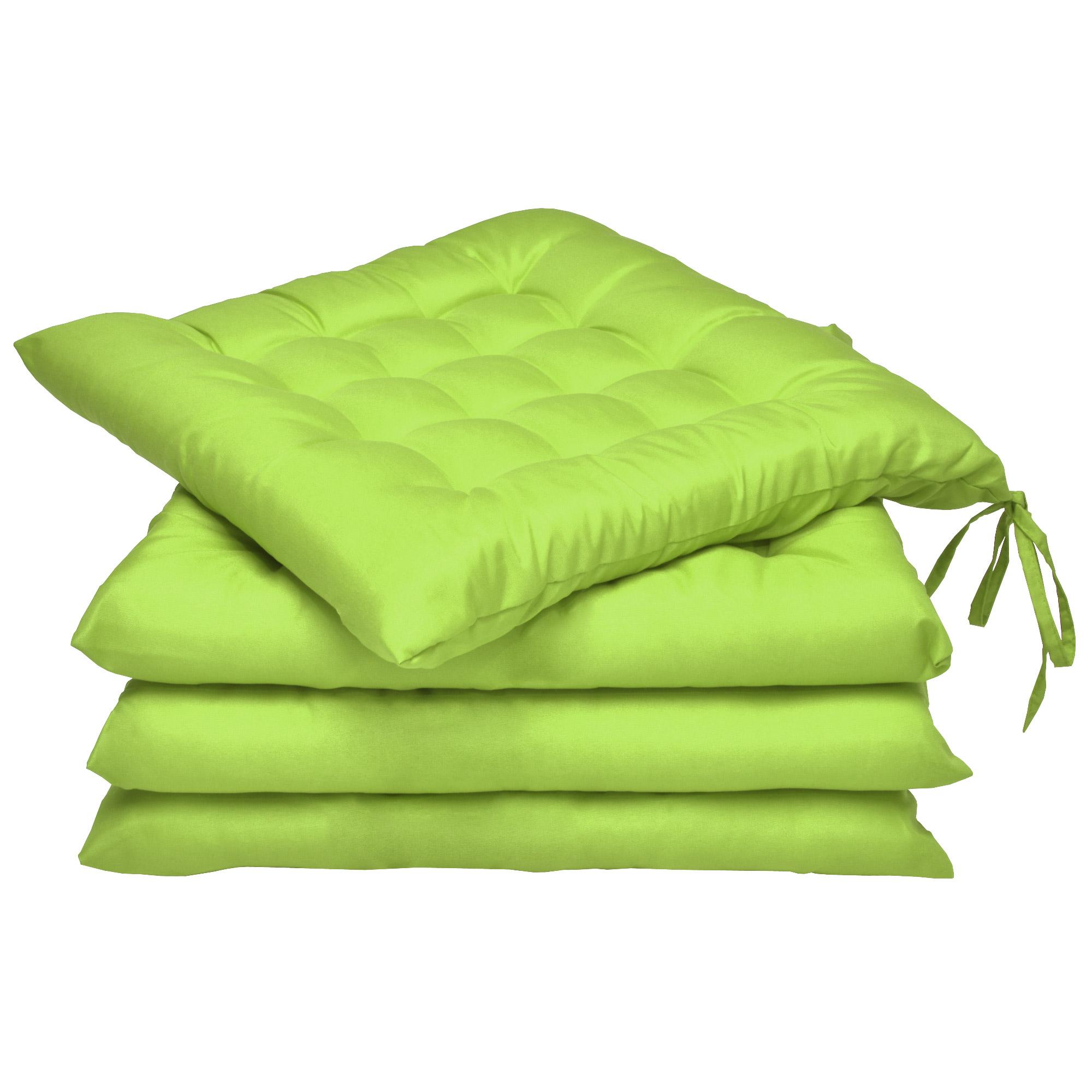 4er set sitzkissen lea 40x40cm gr n kaufen. Black Bedroom Furniture Sets. Home Design Ideas