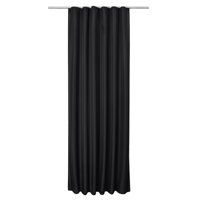 universalband vorhang amelie 140x175cm schwarz. Black Bedroom Furniture Sets. Home Design Ideas