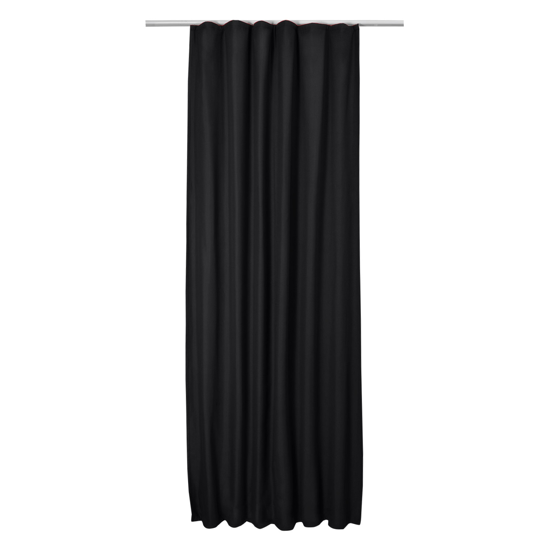 thermo universalband vorhang 140cm x 245cm schwarz. Black Bedroom Furniture Sets. Home Design Ideas