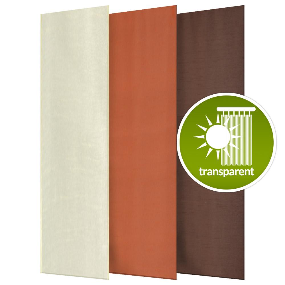 schiebegardine pure halbtransparente gardine 60 x 245 cm. Black Bedroom Furniture Sets. Home Design Ideas
