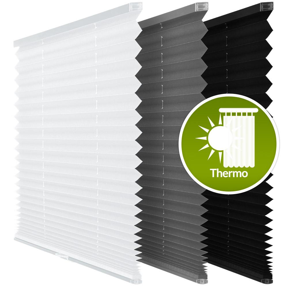 kassetten plissees freih ngend thermo kaufen. Black Bedroom Furniture Sets. Home Design Ideas
