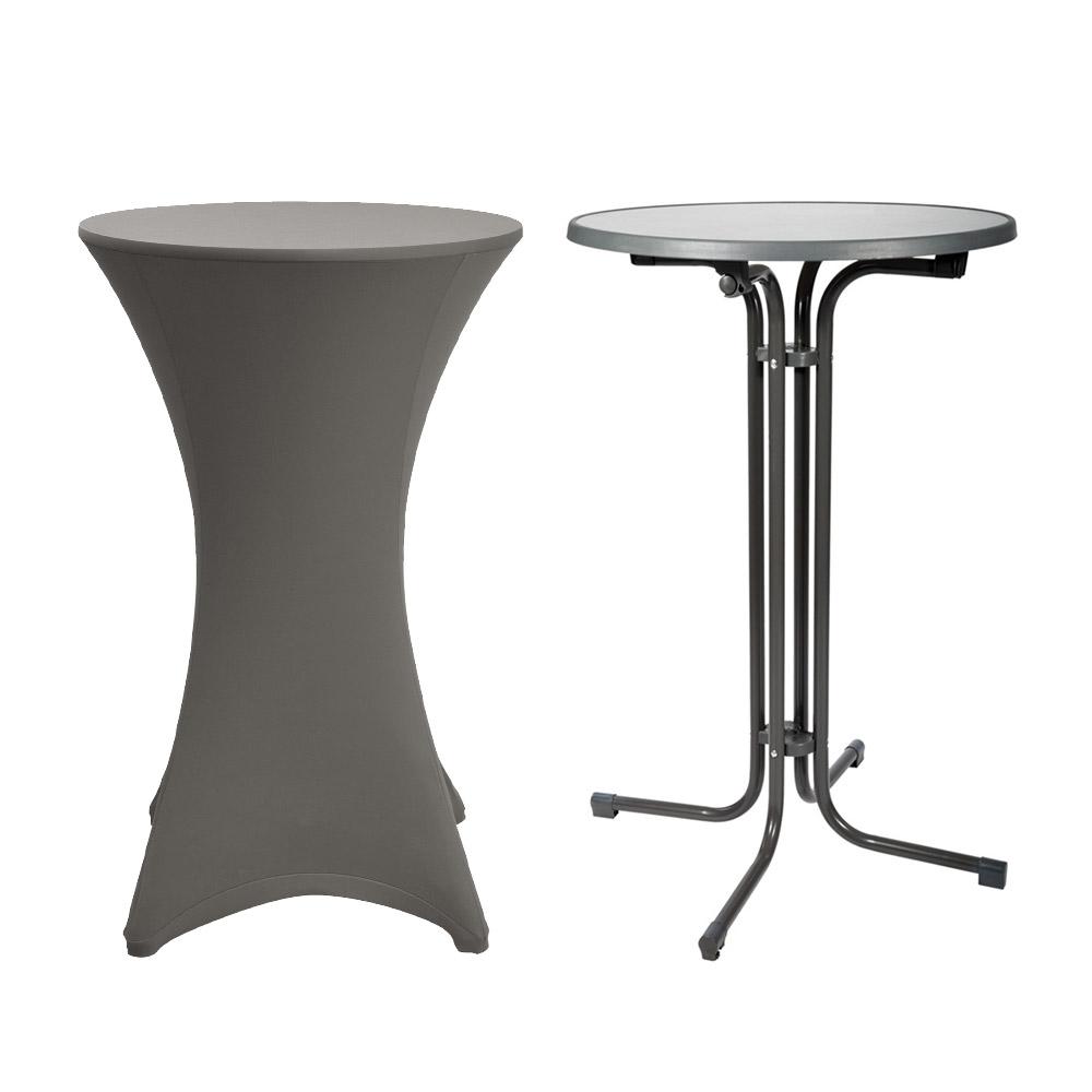 stehtisch stehtischhusse stretch husse stella 80cm anthrazit. Black Bedroom Furniture Sets. Home Design Ideas